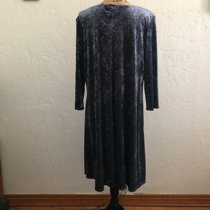 LBisse Dresses - LBisse Velour long sleeve dress, size 2X